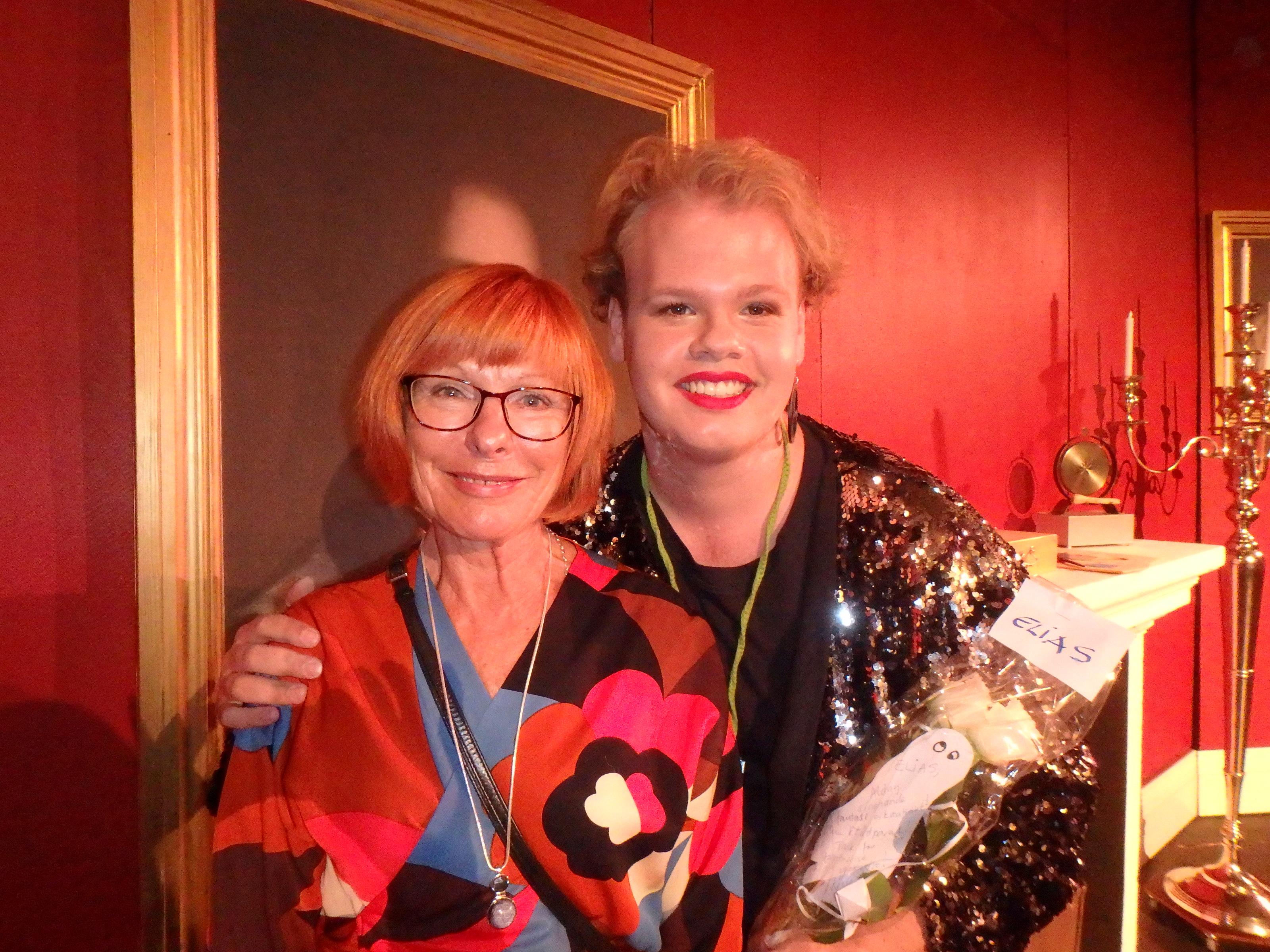 Kerstin Olin stod för origiamin - Elias Levin för resten av kostymerna! - Foto: Belinda Graham