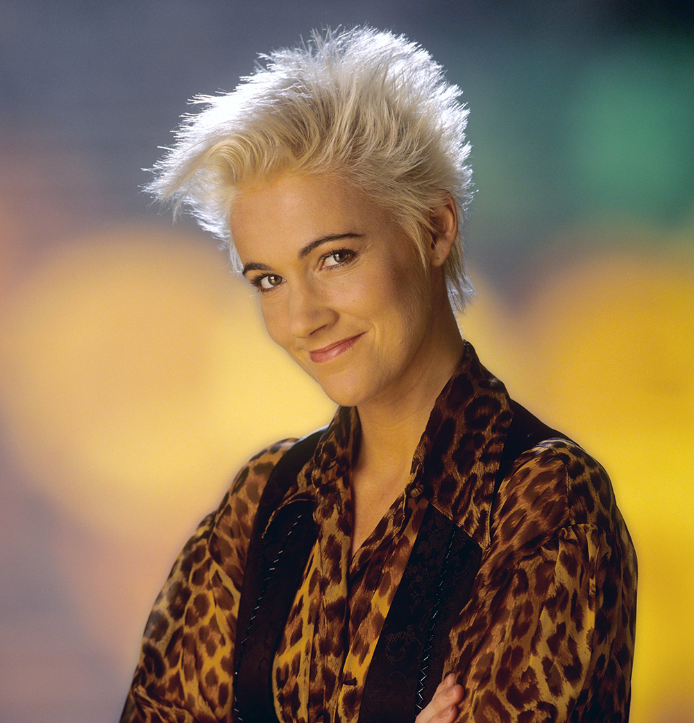 Marie Fredriksson (Roxette) in November 1989 in Dortmund.   usage worldwide